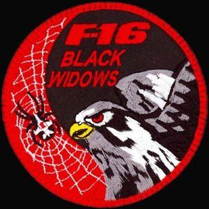 USAF 421st FIGHTER SQUADRON -F-16 -BLACK WIDOWS- Hill AFB, UT -ORIGINAL PATCH