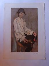Dauchot gabriel Arlequin lithographie couleurs XXème siècle