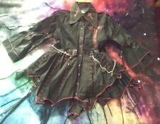 Gothic punk black sexy dress size small UNIQUE AND RARE