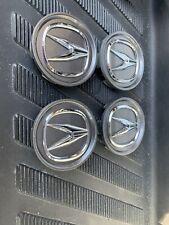 ACURA Wheel Center Cap RL CL TL RDX MDX TSX OEM Chrome Logo Charcoal 69 MM(4 Pcs