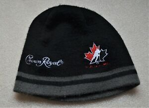 HOCKEY TEAM CANADA CROWN ROYAL Vintage PROMOTIONAL TOQUE BEANIE CAP HAT