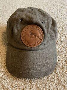 Rare Vintage POLO Ralph Lauren Sportsman Horse Furnishings  Goods Hat Cap...Wool