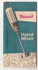 Komet Handmixer Gebrauchsanweisung DDR 1959 Pürierstab (H3