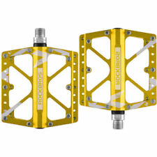 RockBros Cycling Wide Feet MTB BMX Bike 3 Sealed Bearing Bicycle Pedals Gold