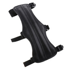 Black Pu Archery Wrist Arm Guard Bow Protect 3 Straps Gear Recurve Bow