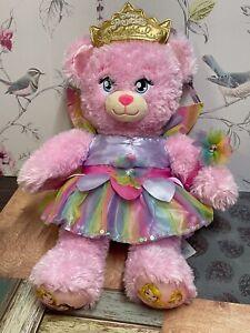 Disney Princess Pink Build a Bear 17'' Wearing Rainbow Fairy Outfit