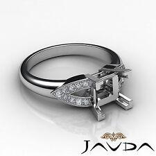 Classic Diamond Wedding Promise Ring Platinum 950 Princess Semi Mount 0.25Ct