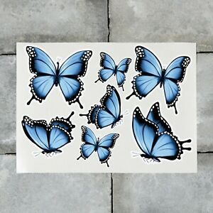 7 x Butterfly Stickers Decals Butterflies Wall Self Adhesive Vinyl