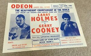 1982 Odeon Cinema Mini-Poster Theatrevision Larry Holmes v Gerry Cooney