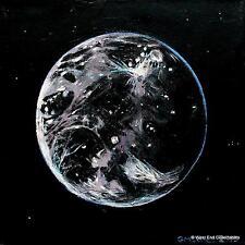 Moon Ganymede -Original Oil Painting Artwork by GM Jones- Space Globe Astronomy