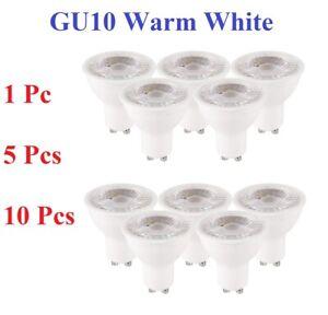 GU10 5W 50W LED Bulbs SpotLight Lamps Cool Warm White Down Light Energy Saving