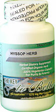 (Hyssop) Herb circulatory, epilepsy, fever, gout, weight, congestion, blood pru