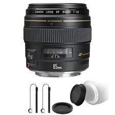 Canon EF 85mm f/1.8 USM Medium Telephoto Autofocus Lens with Accessory Bundle