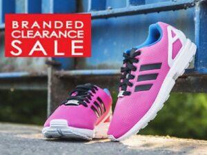 BNIB New Women Adidas ZX Flux trainers Pink Black torsion size 5 6 7 8uk