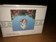 "Charming Tails ""Binkey'S Poinsettia"" Christmas Ornament Silvestri"
