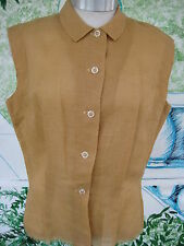 Vintage blouse sleeveless Jeweled Buttons waist pleats Justin McCarty of Dallas