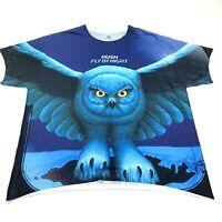 Rush Fly By Night Graphic T Shirt Owl Size XL Dri Power