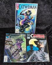 Catwoman Lot of 3 comics #0, #1, #4 of 4 from 1989 Mini Series NM/MT to Mint