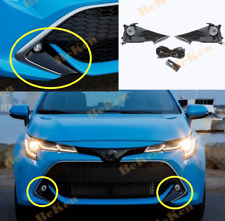 Front fog lamp Kit w/Bulb Switch Cable Bezel  For 19-21 Toyota Corolla Hatchback