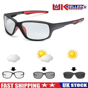 Photochromic Mens Sunglasses Sports Driving Polarized Fishing Cycling Glasses QN