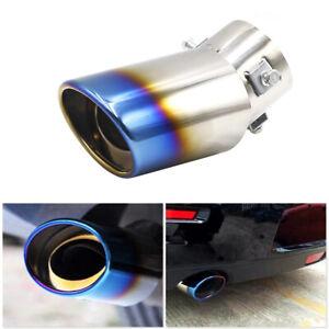 Universal Car Exhaust Muffler Tip Round Stainless Steel Pipe Chrome Tail Muffler