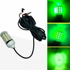 12V LED Green Underwater Submersible Night Fishing Light Crappie Shad Squid S2L0