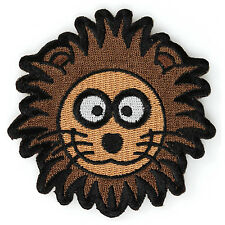 Embroidered Cute Brown Lion Head Kids Sew or Iron on Patch