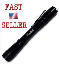 Hanvex Led Aluminum Pen Light 50 Lumens Bright Flashlight With Pocket Clip USA