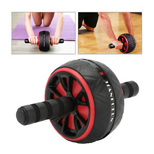 AB Abdominal Roller Wheel Fitness Waist Core Workout Exercise Wheel Gym Sport UK