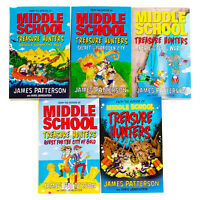 Middle School Treasure Hunters 5 Books Children Set Paperback By James Patterson