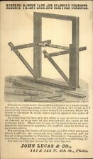 Roberts Jack & Scaffold Illustrated Postal Card Philadelphia CARPENTRY TOOLS