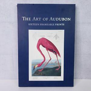 """The Art of Audubon: Sixteen Frameable Prints, 10"""" x 15"""" Bird Art Box Set"""