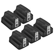 5pk Remanufactured Replacement Ink Cartridge for HP C8721WN (HP 02) Black