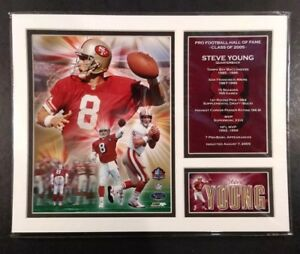 STEVE YOUNG Hall of Fame CLASS OF 2005 Milestones & Memories MATTED PHOTO