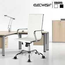 Elecwish PU Leather Office Chair Adjustable Executive Swivel High Back Task Home