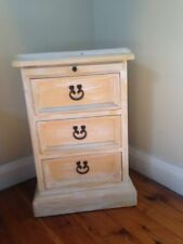 Timber Bedside Tables with 3 Drawers