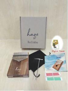 Haze 17-Key Solid Acacia Kalimba MBIRA Thumb Piano w/Tutorial Manual HSH-01A
