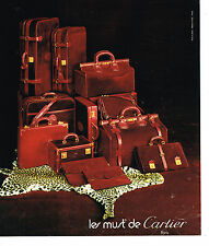 PUBLICITE ADVERTISING 084  1975  CARTIER  boutique valises sacs bagages LES MUST