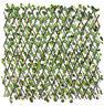 Siepe artificiale recinto edera sintetica traliccio legno salice estensibile