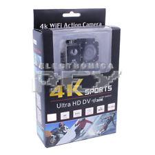 Camara Acción Deportiva con Wifi Sumergible 30m Ultra HD 4k,17 accesorios d349