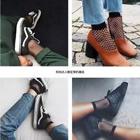 Womens Fashion Ruffle Fishnet Ankle High Socks Mesh Lace Fish Net Short Socks