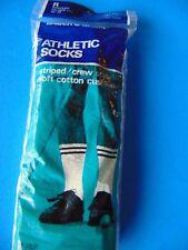 Striped Socks 70s-80s Mens NEON NAVY Crew Socks NEW IN PACKAGE OLD Stock!