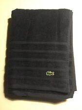 "Lacoste Signature Croc Large Bath Towel 30"" x 54"" Navy Blue Dark"