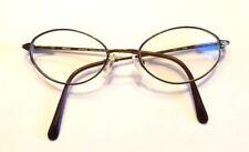 Nikon NT6015 Eyeglass Frames 50-18-135 Brown Oval Titanium