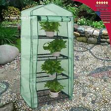 Portable Mini Walk In Greenhouse Outdoor Gardening Plant With Cover 4 shelves
