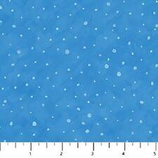 Snow Light Blue Cutie Hooties Flannel Northcott Fabrics by the 1/2 yard