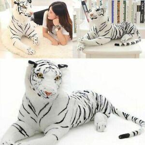 Plüsch Tiger Weiß Tierplüsch Kuscheltier Stofftier Kuschelkissen Spielzeug