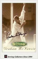 1996 Futera Cricket Heritage Collection Signature Card NO60 G. McKenzie