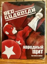 """Red Guardian (Alexei) Tin Metal Sign Marvel Gear+Goods """"Red� LootCrate Exclusive"""
