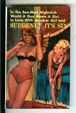 SUDDENLY IT'S SIN by Craig, US Raven #705 sleaze lesbian gga pulp vintage pb